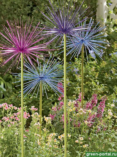 Искусственные цветы лука
